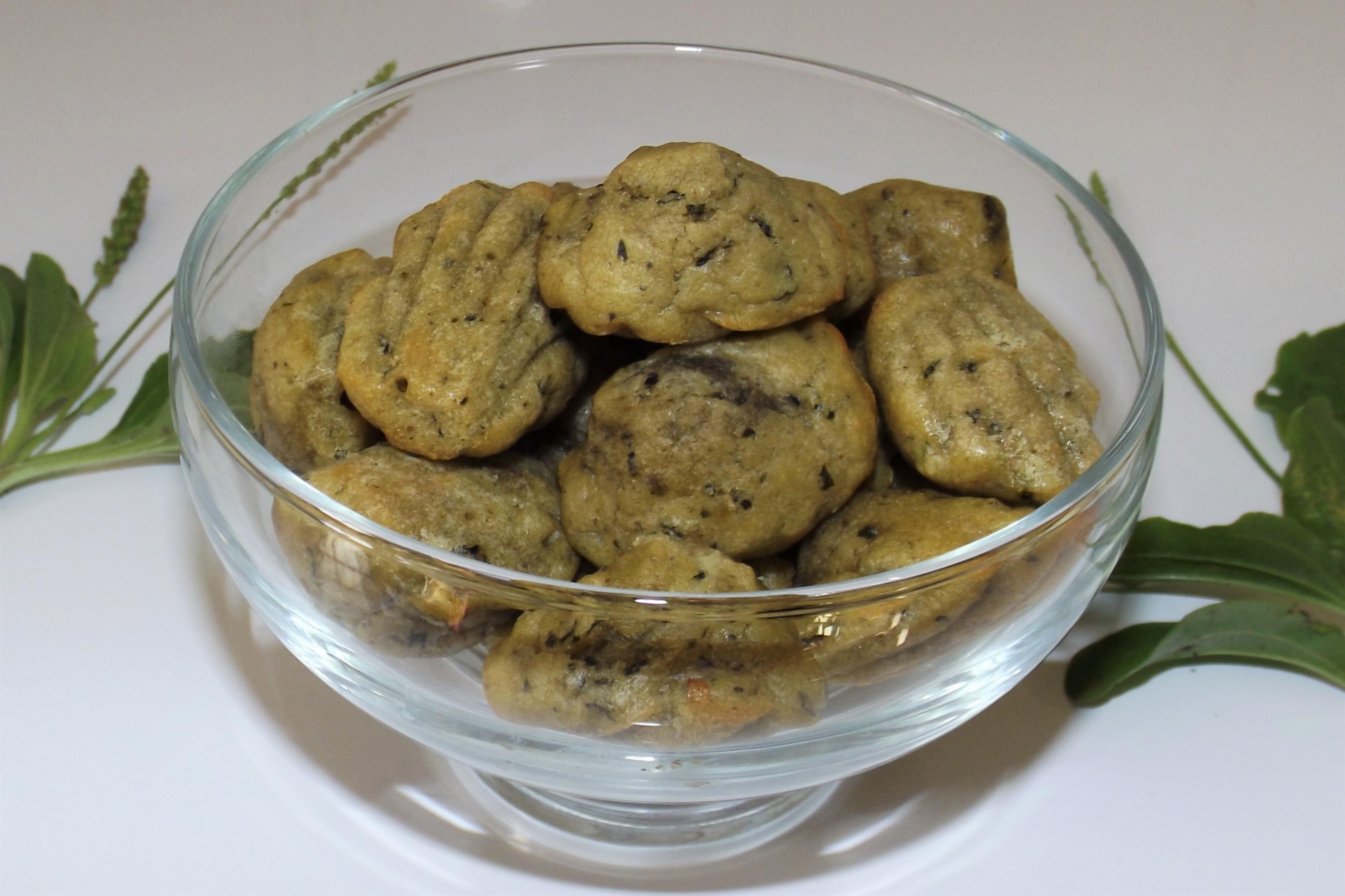 Mini-madeleines apéritives au pesto de plantain