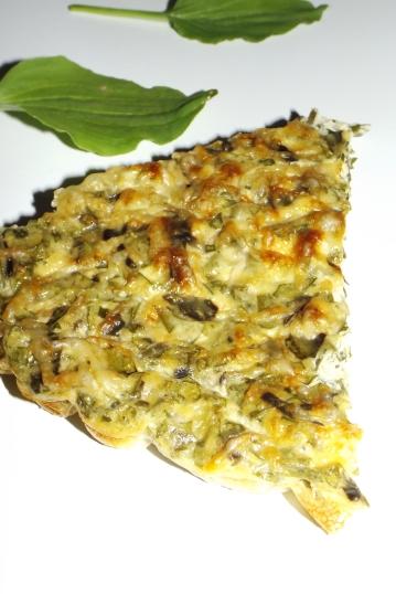 Quiche sans pâte au plantain et au fromage àl'ail et aux fines herbes2