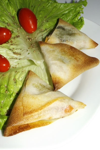 Samoussa thon, tomate et pesto de plantain2