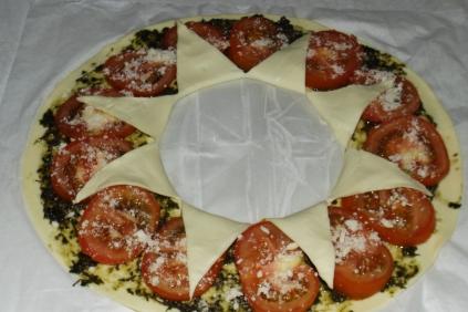 Tarte soleil pesto de plantain et tomates10
